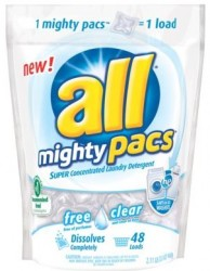 All® mighty pacs™ Super Concentrated Laundry Detergent