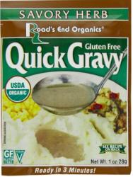 Road's End Organics® Gluten-Free Quick Gravy, Organic (Savory Herb)