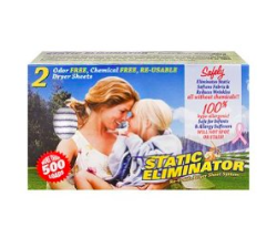 Static Eliminator™ Re-useable Dryer Sheet System (also being sold as