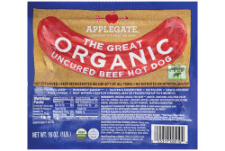 Applegate® The Great Organic Uncured Beef Hot Dog