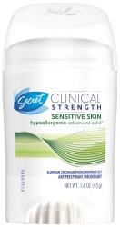 Secret® Clinical Strength Sensitive Skin Antiperspirant/Deodorant, Advanced Solid